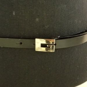 Gucci Vintage Black Skinny Belt